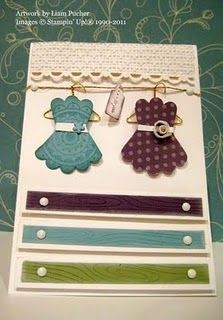 Dresses on a card! cute idea