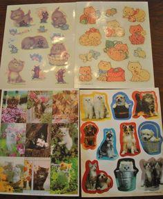 Vtg 1980s Hallmark KITTEN KITTY CAT Stickers 4 Sheets  #Hallmark