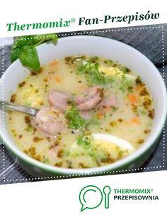 Zupa (żurek) z ziemniakami jest to przepis stworzony przez użytkownika grjolkar. Ten przepis na Thermomix<sup>®</sup> znajdziesz w kategorii Zupy na www.przepisownia.pl, społeczności Thermomix<sup>®</sup>. Cheeseburger Chowder, Food And Drink, Soup, Thumbnail Image, Cooking Ideas, Anna, Kitchens, Thermomix, Polish Food Recipes