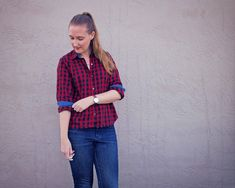 Made By Meg: New Pattern and a Plaid Shirt
