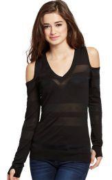Blusa G By Guess, Hombros Descubiertos #blusa #GbyGuess #moda #fashion #estilo #style
