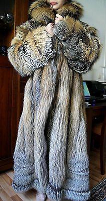 SALE SALE Pelzmantel Golden Cross Fuchsmantel Fuchsjacke fur coat шуба