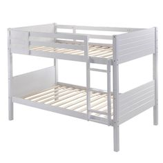 $340.00Extend your child's sleeping space with the Collection twin/single bunk bed. Accented with a simple horizontal cross rail design that features clean lines and timeless style, creating an appeal that will last for years. A great space-saving solution, this bunk bed easily separates converting into 2 twin beds for versatility. There is no need for a box spring as the 13 sturdy slats offer plenty of mattress support. This bed is the perfect solution for a growing family and can be…