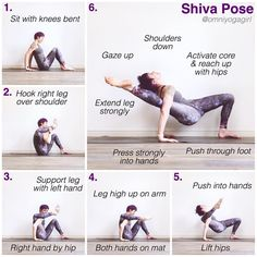 """69 Likes, 5 Comments - Laura Large (@omniyogagirl) on Instagram: """"✨ Shiva Pose Tutorial ✨ #omniyogagirltips ✨ A few people have requested a tutorial on this - so…"""""""