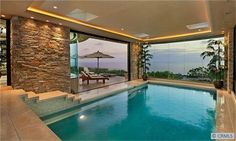 Indoor-outdoor pool-necessity in my future home...a girl can dream ;)