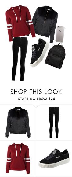 """""""my style lmao"""" by esramendes ❤ liked on Polyvore featuring Glamorous, J Brand, Puma and Hogan"""
