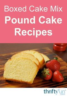 Pound cake can be made very easily if you use a cake box mix to start with. This page contains cake box mix pound cake recipes. Pound cake can be made very easily if you use a cake box mix to start with. This page contains cake box mix pound cake recipes.