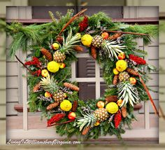 Williamsburg Christmas Decorations with Fruit | Living In Williamsburg, Virginia: Colonial Christmas Begins, Colonial ...