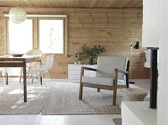 summerhouse of time of the aquarius #wood #cottage #white_floors #living #dining