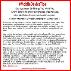 #MobileDeviceTips is about making you aware of tips to keep you safer in this digital world.