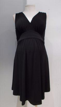 bc66f9e381fcc Gently used maternity dress Liz Lange Maternity sleeveless faux wrap dress  Black. Nursing friendly.