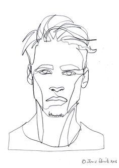 """Gaze 493″, continuous line drawing by Boris Schmitz"