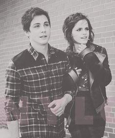 Logan Lerman and Emma Watson... two of my favorite people!!!