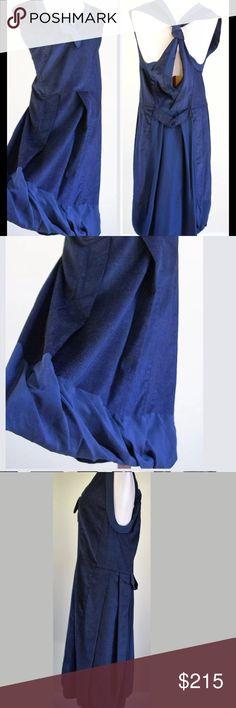 Alexandre Herchcovitch blue dress Sz 4 Blue open back dress multi texture Sz 4 Retail $1290 Alexandre Herchcovitch Dresses Midi