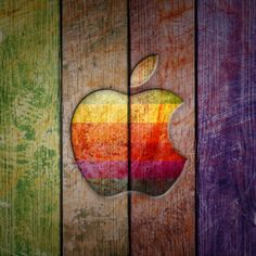 Apple Logo on Colorful Wood iPad Wallpaper HD Wallpaper Ipad Mini Wallpaper, Retina Wallpaper, Apple Logo Wallpaper Iphone, Mac Wallpaper, Wood Wallpaper, Painting Wallpaper, Wallpaper Backgrounds, Hd Ipad Wallpapers, Hd Desktop