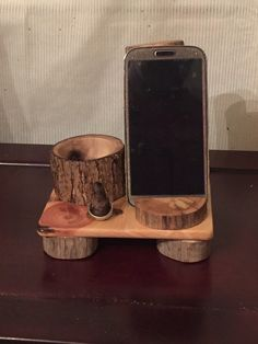 A personal favorite from my Etsy shop https://www.etsy.com/listing/257374185/iphone-docking-station-iphone-stand