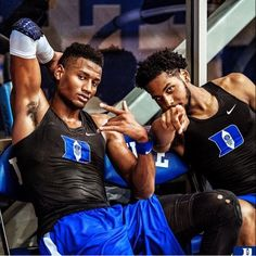 Javin DeLaurier and Marques Bolden Basketball Schedule, Basketball Coach, North Carolina Triangle, Grayson Allen, Coach K, Duke Blue Devils, Boys, Sexy, Sports