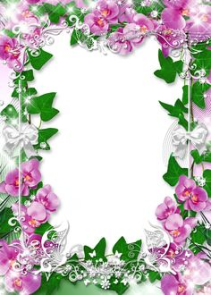 Photo-Frame-with-Flowers-Orchid-Favorite.png (914×1280)