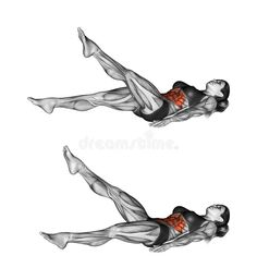 Illustration about Scissors exercise. Exercising for Fitness. Target muscles are marked in red. Initial and final steps. Illustration of workout, final, fitness - 45721452 Squat Workout, Triceps Workout, Gym Workouts, At Home Workouts, Yoga Fitness, Fitness Tips, Fitness Motivation, Exercise Motivation, Muscle Fitness