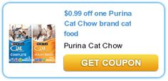$0.99 off one Purina Cat Chow brand cat food
