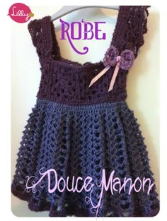 "Crochet design Baby Dress  "" Robe Manon"" - this kind of stuff inspires me to continue learning how to crochet!"