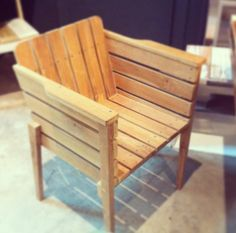 Wooden chair in a lovely furniture shop in Barcelona!