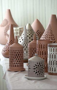 pottery lantern - Google Search