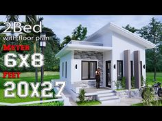 House Design Plans Meters Feet 3 Bedrooms Shed Roof House House Short Description:-Car Parking and garden-Living room,-Dining Bed Model House Plan, Shop House Plans, Small House Plans, New House Plans, Dream House Plans, House Floor Plans, Flat Roof House, House 2, Modern Bungalow House