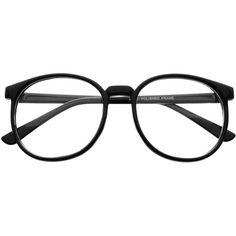 Nerdy Large Retro Style Clear Lens Round Eye Glasses Frames r1720 ($20) ❤ liked on Polyvore featuring men's fashion, men's accessories, men's eyewear, men's eyeglasses and mens tortoise shell eyeglasses