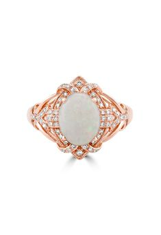 Effy Aurora 14K Rose Gold Opal and Diamond Ring, 1.62 TCW - Rings - Women