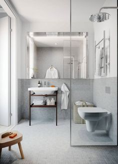 Wetrooms are great for small bathroom spaces, allowing you to keep your design fluid and uncluttered House Bathroom, Bathroom Inspiration, Bathroom Interior, Apartment, Bathrooms Remodel, Laundry In Bathroom, Home, Interior, Bathroom Design