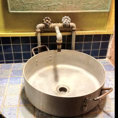 Mex Restaurant bathroom sink in Lafayette Restaurant Bad, Restaurant Bathroom, Restaurant Design, Rustic Italian, Italian Home, Italian Pasta, Lavabo Vintage, Decoration Restaurant, Modern Bathrooms