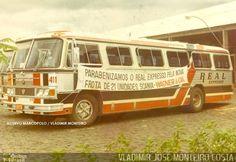 Ônibus da empresa Real Expresso, carro 411, carroceria Marcopolo II, chassi Scania B76. Foto na cidade de Brasília-DF por VLADIMIR JOSÉ MONTEIRO COSTA, publicada em 13/05/2016 00:16:15.