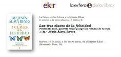 Mañana 10/06 en Bilbao la psicóloga Mª Jesús Álava Reyes presenta su libro 'Las tres claves de la felicidad'