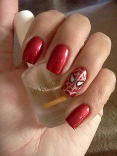 Spider man nails created by Tina!!!