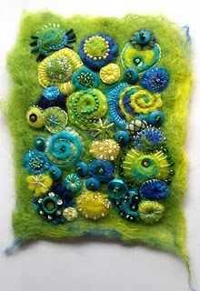 Sheila Arthurs « a life of felt – Angela Barrow Fabric Art, Fabric Crafts, Sewing Crafts, Wet Felting, Needle Felting, Felt Pictures, Creative Textiles, Quilt Modernen, Felt Embroidery