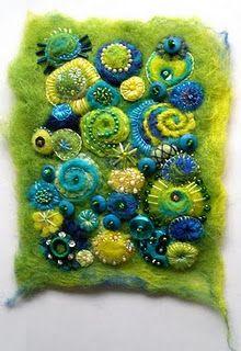 Sheila Arthurs « a life of felt – Angela Barrow Wet Felting, Needle Felting, Fabric Art, Fabric Crafts, Felt Pictures, Creative Textiles, Quilt Modernen, Felt Embroidery, Art Textile
