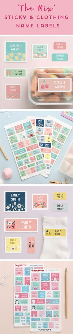 35 Sticky or Clothing Name Labels from $10! The Best Kid's Labels Pack Yet!