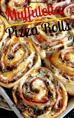 Muffuletta Pizza Rolls -Creole Contessa