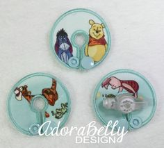 Winnie Gtube Pads G Tube Covers Mic-Key Mickey Button Bamboo Colostomy G Tube Button G-Tube Winnie-the-Pooh Eeyore Tigger Piglet by AdorabellyDesign on Etsy