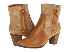 Gabriella Rocha Two Tone Booties Tan