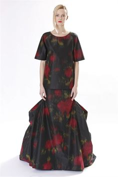 { Prints : Black on Red , Distorted Flowers, Flamango inspired  By Micheal Kors }