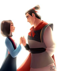 The most badass #disneycouple ever, who frickin' saves China #Mulan #FaMulan and…