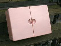 Designer Badschrank ♥ rosa ♥ Spluga 50er
