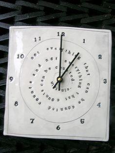 Ceramic Clock...mbartstudios (etsy)