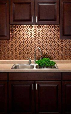 Option for temporary backsplash Oil Rubbed Bronze Backsplash
