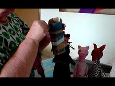 Artesanato em Papel Mache - Fantoches (Handcrafts) - YouTube