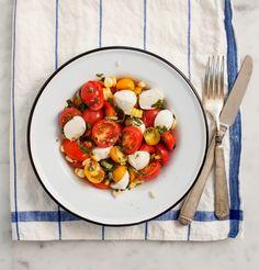 Cherry tomato basil salad | Via: Love & Lemons