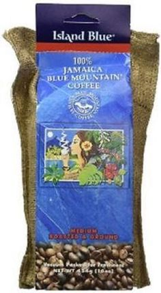 island blue 100 percent jamaica blue mountain roasted ground coffee 16oz #IslandBlue
