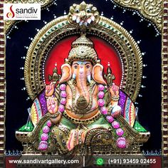 Tanjore Painting, Traditional Paintings, Interesting News, Lord Ganesha, Online Painting, Paintings For Sale, Art Gallery, Colours, 3d